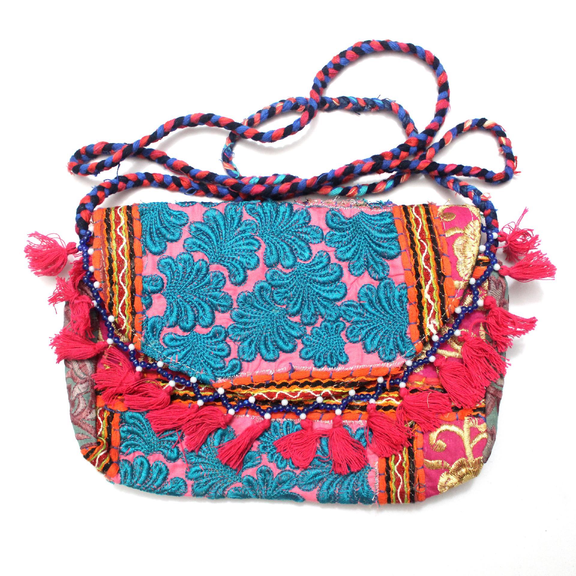 1a0d635c61 Image is loading Vintage-Tribal-Banjara-Indian-Handmade-Ethnic-Women-Purse-
